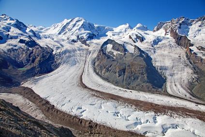 Rückgang der Gletscher - ein sichtbares Zeichen der Umweltveränderungen