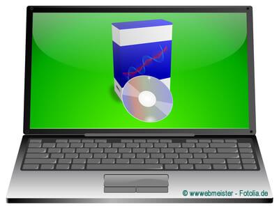 Software Verpackungen sind meist umfangreich, obwohl der Inhalt klein ist.