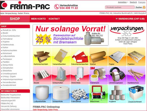 Umfangreich: Das Angebot an Verpackungen und Verpackungsmaterial im Onlineshop von Verpackungen365.ch