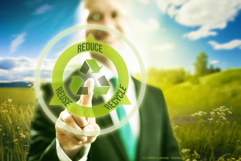 Von der Produktion bis zur Entsorgung Umweltbelastung senken.