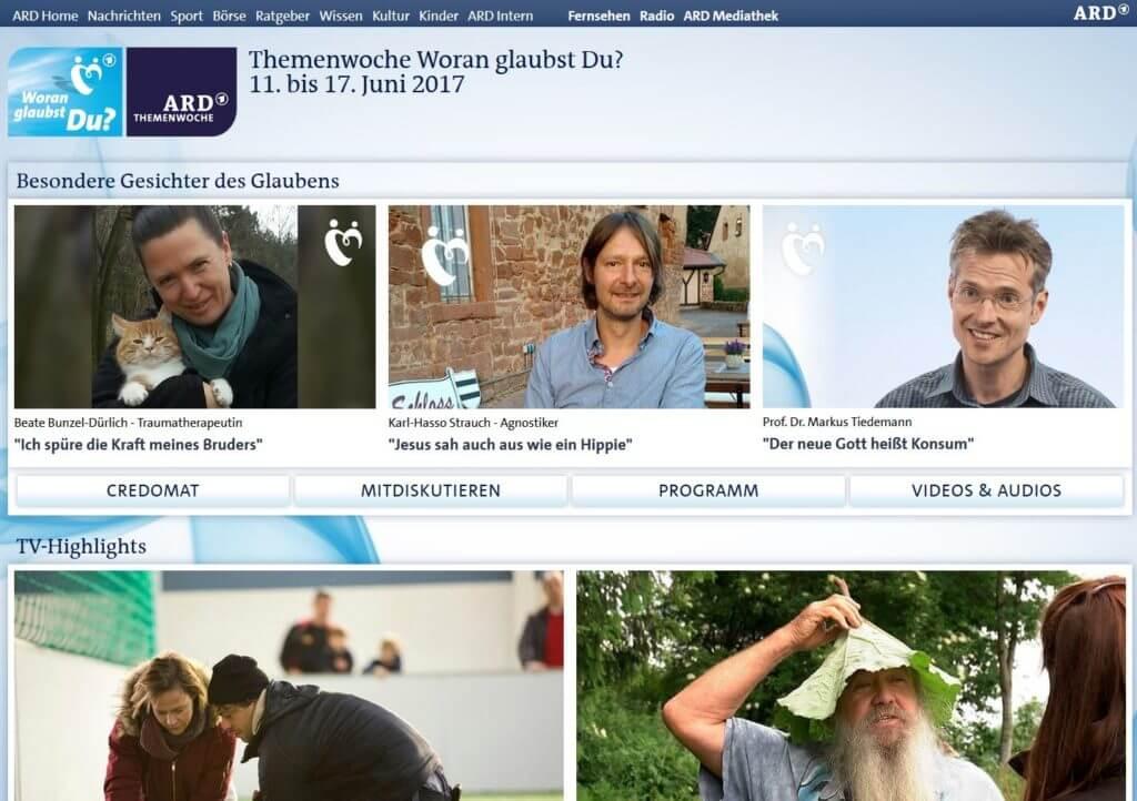 Woran glaubt Deutschland - Lebensberatung im TV